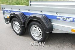 Twin Axle 8ft X 4 Ft Car Trailer 750kg Knott Suspension Two Years Warranty