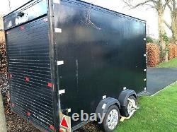 Twin Axle Box Trailer with Rear Roller Shutter Door access