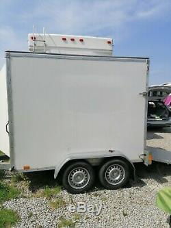 Twin Axle Braked Box Trailer Ramp Door Made By Blue Line Trailers Mgw 1700kgs