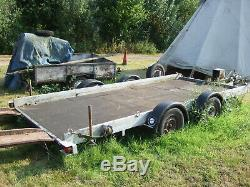 Twin Axle Car Trailer with winch
