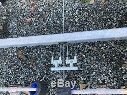 Twin Axle Galvanised Boat Trailer 1300 KG Coupling 2 new complete axles braked