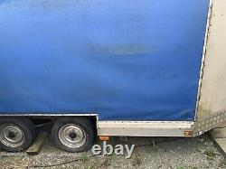 Twin Axle Trailer With Curtain Sider Body