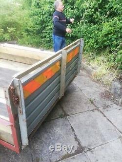 Twin Axle Trailer, short ramp tail gate