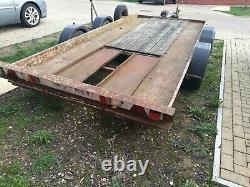 Twin Axle car transporter trailer 2600kg