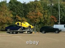 Twin (Double) car transporter trailer Tripple Axle @swap for box trailer and £ @