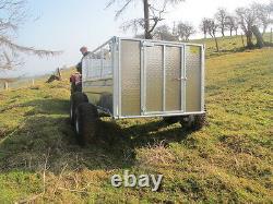 Twin axle ATV trailer. 7x4 sheep trailer. Use with Honda Kawasaki Suzuki