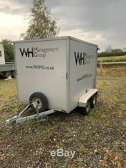 Twin axle Box Trailer With Ramp. Motorcycle Quad Trailer
