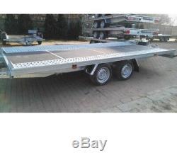 Twin axle Flat Bed car transporter trailer 5m X 2,1m 3000DMC, Low loader R13