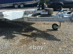 Twin axle Flat Bed car transporter trailer 5m X 2.1m 3000DMC, Low loader R13