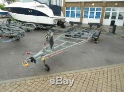 Twin axle SBS R4 2000 bunked boat trailer