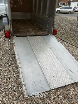 Twin axle aluminium box trailer