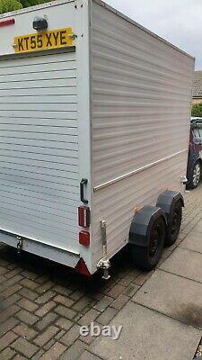 Twin axle box trailer 1400kg gvwithmam b+e test