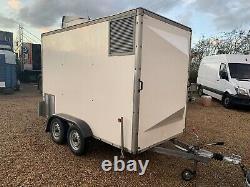 Twin axle box trailer Blueline