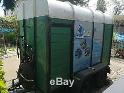 Twin axle box trailer, new arches, spare wheel, side door and rear ramp