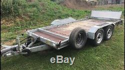 Twin axle brian james tipping trailer