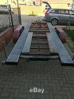 Twin axle car trailer transporter 15ft