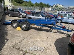 Twin axle car transporter trailer Hydraulic Tilt