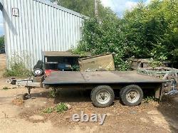 Twin axle flat trailer 3.5t Wessex Trailers