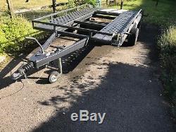 Twin axle trailer car Transporter
