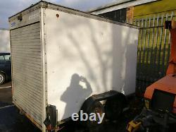 Twin axle van trailer, internal measurements 3.7m long 1.92m high 1.7m wide