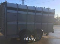 USED IFOR WILLIAMS 12ft x 5ft 10 TWIN AXLE 3500Kg CATTLE TRAILER, GATE +VAT