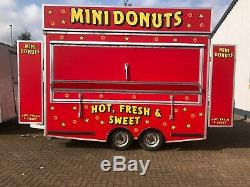 Used 12' Twin Axle Donut Trailer Professional Refit by Catering Units Ltd