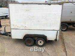 Used Twin Axle Box Trailer, Aluminium, (8' x 4')