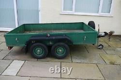Used car trailer twin axle