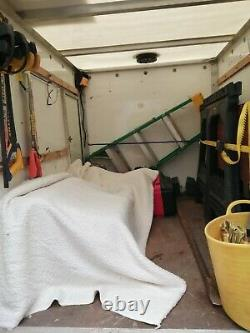 Used twin axle box trailer