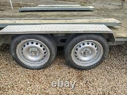 Used twin axle braked universal car trailer