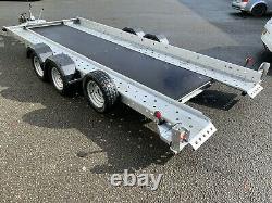 Woodford Tiltbed Car Transporter Twin Axle Trailer