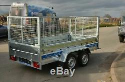 10 X 5 Cage Trailer 1300kg Suspension Al-ko 3m X 1,5m Freinées Twin Axle Trailer