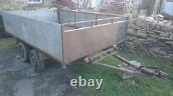 10ft X 6ft 7in Twin Axle Tipping Trailer Project Flatbed Tipper