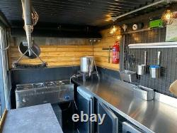 14ft Twin Axle Mobile Catering Trailer Steampunk Bbq Smoke House