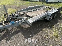 16 Ft Tilt Bed Heavy Duty Car Transporter Trailer Twin Axle 2600 KG