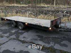 18ft Double Essieu Lit Plat Remorque Ifor Williams Lm186 Car Transporter Ramps