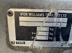 2005 Ifor Williams Tt105g Twin Axle Tipper Dropside Remorque 3500kg