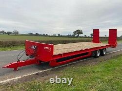 2012 Jpm 27ft Twin Axle Low Loader Plant Machinery Trailer On Air Brakes