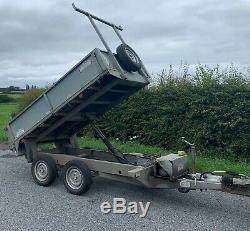 2014 Graham Edwards 8ft X 5ft Twin Axle Benne Basculante C / W Ladder Rack + Tva