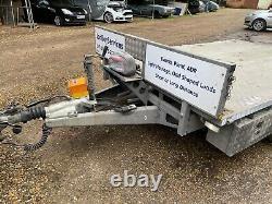 2014 Ifor Williams Lm106g Twin Axle Flatbed Trailer Fsh Lockers Winch Ramps Lock