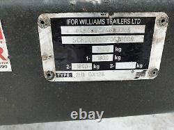 2015 Ifor Williams Gx126 Essieu Jumeau 3500kg Digger Dumper Plant Remorque £2295+vat