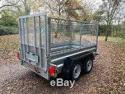 2016 Indespension 8x4 Essieu Double Filet 2700kg Rampe De Remorque Plante Latérale Cage Vgc