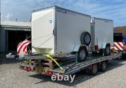 2017 Brian James T4 Remorque De Transport Fsh Tilt Treuil Électrique Twin Axe 3,5ton