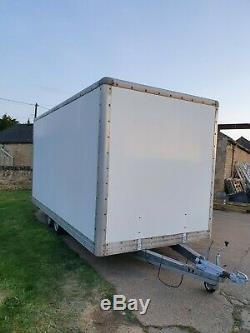 3000 KG Grand Double Essieu Box Remorque