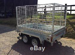 6x4 Twin Axle Sans Frein, Caged, Remorque De Boîte
