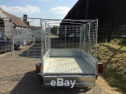 7x4 Twin Axle Caged, Remorque De Boîte Non Freinée