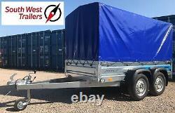 8'8 X 4'1 Twin Axle Trailer Avec High Frame & Heavy Duty Cover 265x125x85cm