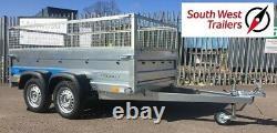 8x4 Twin Axle Trailer 750kg Deep Body With Mesh Sides (263cmx125cmx85cm)