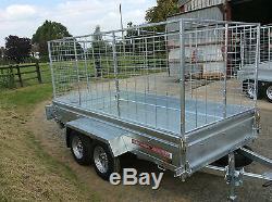 9x5 Twin Axle Unbraked, Caged, Remorque De Boîte
