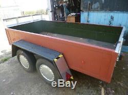 Al-co Framed Double Axle Box Car Remorque 8ft 4po Bon État